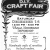 Sat. December 14th – DIY Craft Fair – 12pm – 5pm