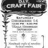 Sat. December 14th – DIY Craft Fair – 12pm – 5pm